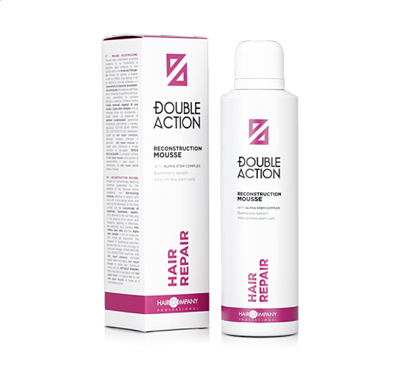 HAIR REPAIR RECONSTRUCTION MOUSSE Double Action Haircompany – regeneračná pena na vlasy 200 ml.