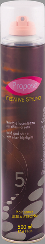 HAIR SPRAY ULTRA STRONG Propose 5 -  extra silne tužiaci lak na vlasy 5