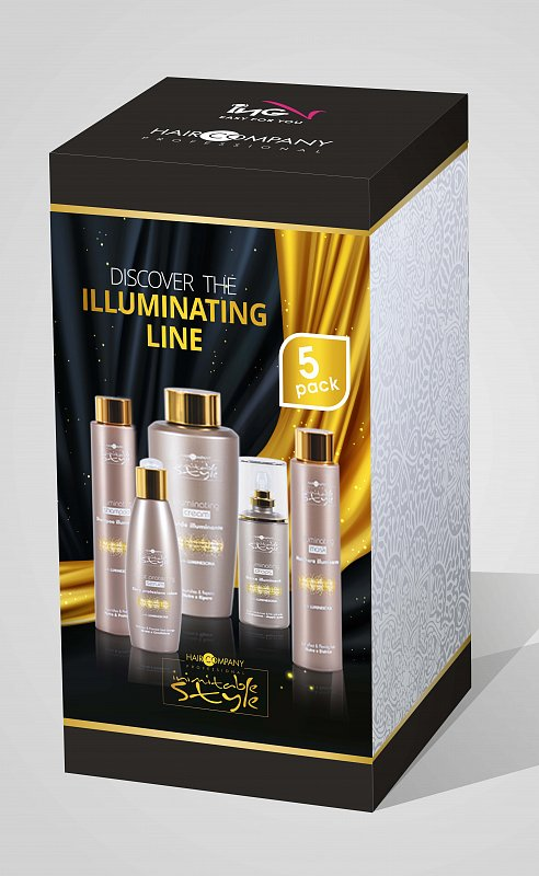 INIMITABLE LUMINESCINE SET Haircompany - sada na vlasy s leskom Inimitable