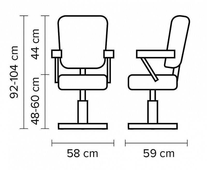 STYLING CHAIR AUGUSTA 56113 YD29 Hairway – kadernícke kreslo. Výškovo  nastaviteľné rotačné kreslo v umelej koži ... a7949babf17